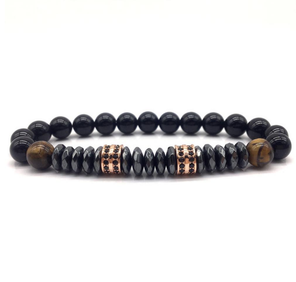 Bracelet en hématite et oeil du tigre dans votre boutique en ligne myzenday.com
